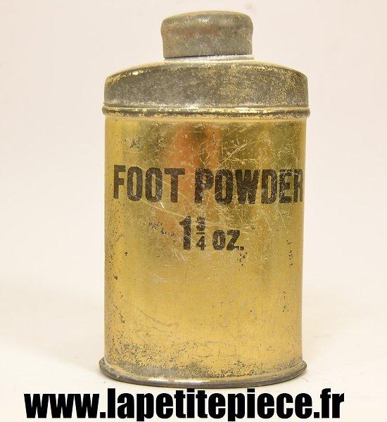 Boite de poudre pour les pieds - FOOT POWDER 1 3/4 oz. Ecriture large
