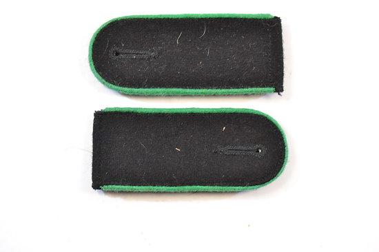 Reproduction de pattes d'épaules Allemandes vertes et noires, Chasseurs