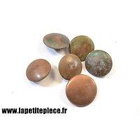 Lot boutons allemand Première Guerre Mondiale lisse