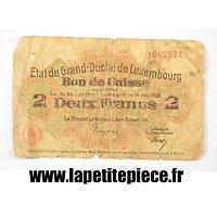 Billet 2 francs 1914 Grand-Duché du Luxembourg