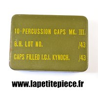 Boite 10 - percussion caps MKIII