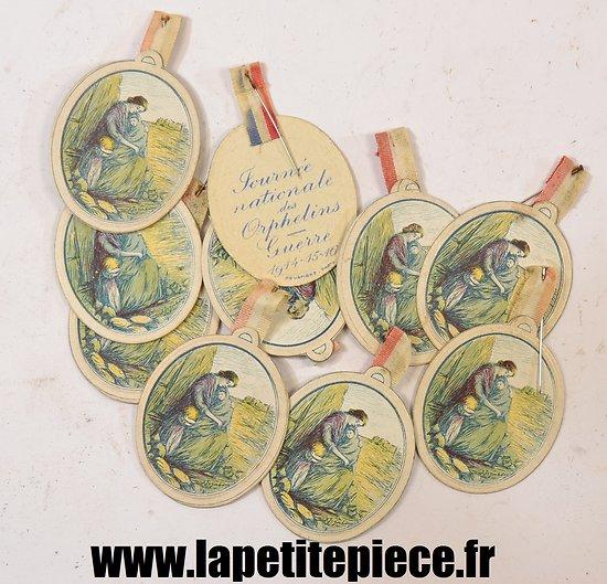 Broche journée nationale des orphelins Guerre 1914 - 15 - 16 Devambez PARIS