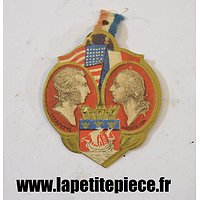 Broche de journée 14 Juillet 1917 PARIS, Lafayette / Washington. Lapina Paris