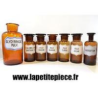 Série de pots / flacons pharmacie Allemand Première Guerre Mondiale