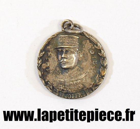 Médaille d'argent 1914 - 1915 JOFFRE / Canon de 75mm
