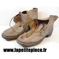 Brodequins modèle 1917 France Première Guerre Mondiale