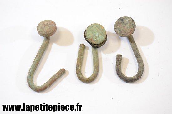 Ensemble de trois crochets de brelage Français Première Guerre Mondiale
