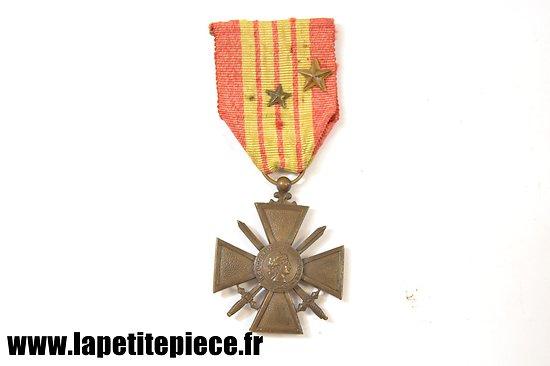 Croix de Guerre 1939 avec deux citations- France WW2