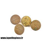 Lot 4 boutons américains Première Guerre Mondiale 28mm