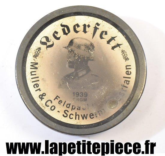 Boite de cirage Lederfett 1939 Muller & Co
