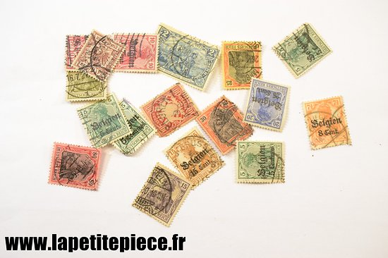 Lot de timbres poste Allemand époque Première Guerre Mondiale
