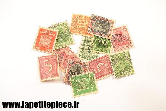 Lot timbres poste Allemand époque WWII