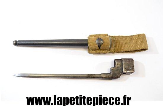 Baionnette Anglaise N°4 MKII avec fourreau et gousset WWII