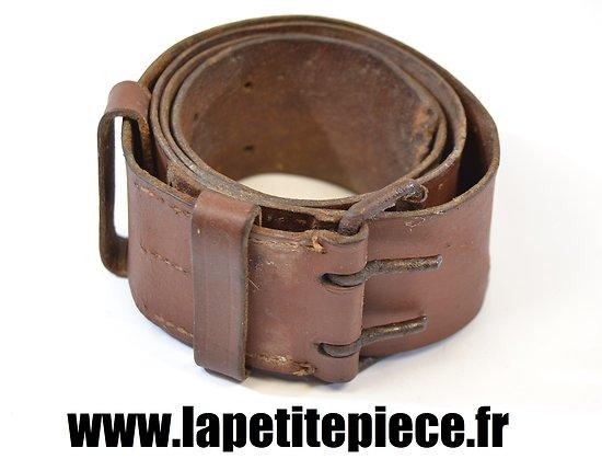 Ceinturon Français modèle 1914 cuir fin