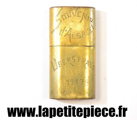 Briquet souvenir d'Alsace Uberstrass 1917