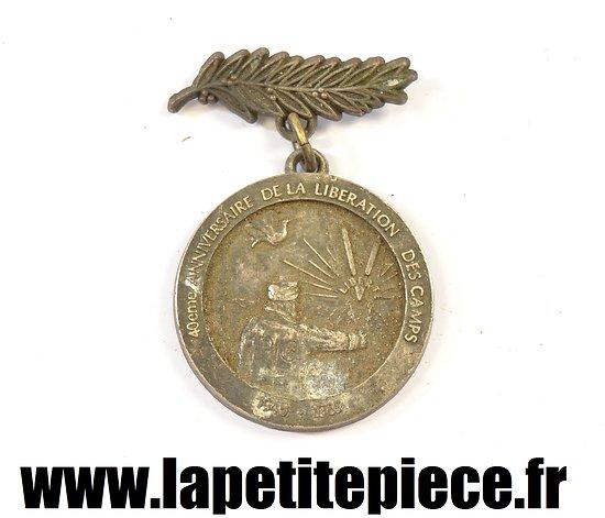 Médaille du 40e anniversaire de la liberation des camps, aux anciens prisonniers de Guerre des Ardennes