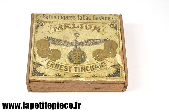 Boite de petits cigares époque Première Guerre Mondiale.