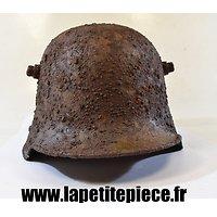 Coque de casque Allemand modèle 1916 première fabrication - pièce de terrain - Square Dip