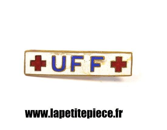 Broche Union des Femmes de France UFF Croix Rouge Française