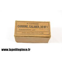 Boite vide 50 cartidges Carbine caliber 30M1 Kings Mills Ordonnance Plant
