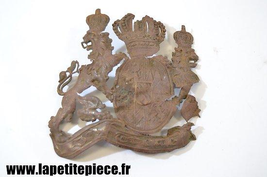 Plaque de casque à pointe bavarois - pièce de terrain