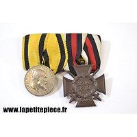 Barette de médailles allemande Première Guerre Mondiale. Wurtemberg