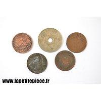 Lot de monnaies Belges époque Première Guerre Mondiale