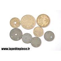 Lot de monnaies belges époque Deuxième Guerre Mondiale