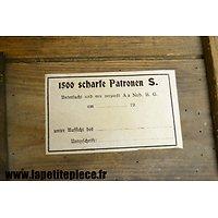 Repro étiquette de caisse PATRONEN 88 - 1500 Scharfe Patronen S.