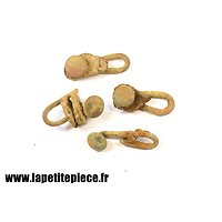 Ensemble de 4 crochets de  brelage Première Guerre Mondiale
