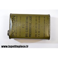 Bidon d'huile américain de 1944 - OIL LUBRICATING PRESERVATIVE LIGHT
