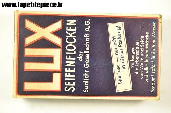 Paquet de lessive Allemand Deuxième Guerre Mondiale, marque LUX. WW2