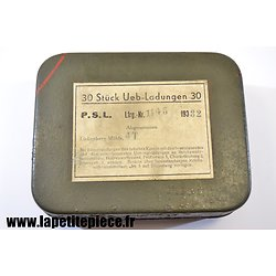 Repro étiquette pour boite métal 30 Uebungsladungen (artifices d'exercice)