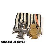 Barette de médailles / Ordensspange Eisernes Kreuz 2. Klasse 1914 et Ehrenkreuz für Frontkämpfer