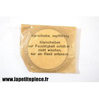 Optiques (verres) de rechange BWZ 1943 pour masque à gaz Allemand Deuxième Guerre Mondiale. WW2. Klarscheiben