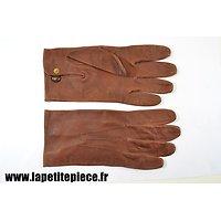 Paire de gants en cuir style Armée Française