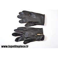Paire de gants cuir noir
