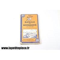 Carte michelin - Bataille de Normandie juin-aout 1944
