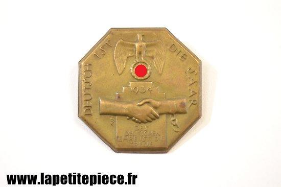 Insigne de journée Deutsch ist die Saar 1934