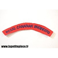 Repro titre d'épaule Royal Canadian Engineers