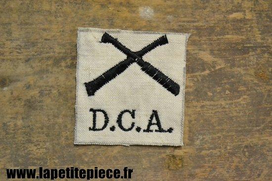 Repro insigne / attribut de manche D.C.A. blanc - défense contre avions