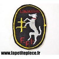 Repro insigne brodé 1er Bataillon de Marche de Loire-Inférieure FFI 1944 - 1945