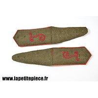 Repro paire de pattes d'épaule Telegraphiste WWI modèle 1914