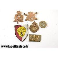 Lot insignes et patch de bras Armée Belge