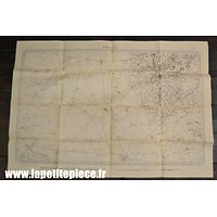 Carte secteur PROVEN (Cassel / Nord) - Epoque Première Guerre Mondiale