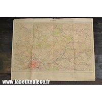 Carte secteur PARIS nord-est - Epoque Première Guerre Mondiale