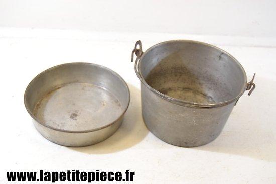Gamelle en tôle étamée, époque Première Guerre Mondiale