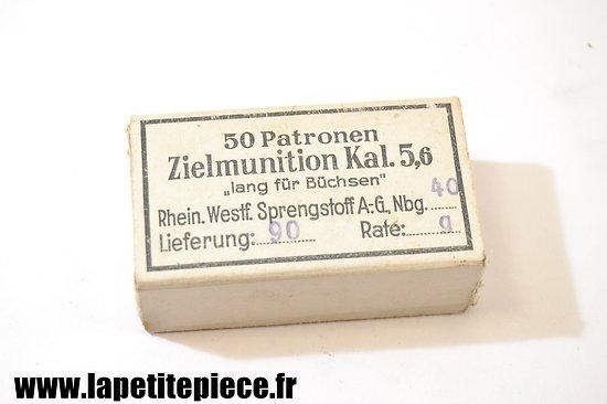 Boite de 50 Patronen Zielmunition kal. 5,6 pour carabine d'entrainement