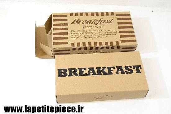 Repro ration type K - breakfast - US WW2