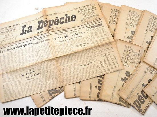 Journal époque Première Guerre Mondiale